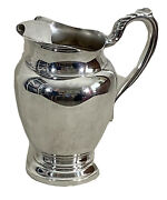 Wm Rogers Vintage Oneida Silverplate Water Pitcher With Ice Guard 8 1/2 Tall