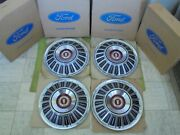 Nos 1967 Ford Hub Caps 15 Set Of 4 Wheel Covers 67 Galaxie 500 Xl Hubcaps