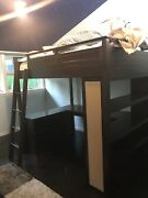 Pottery Barn Sleep And Study Full Size Loft Bed With Desk And Shelves Expresso