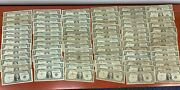 Lot Of 86 1935 And 1957 Circulated One Dollar Silver Certificate Notes 3