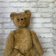 """Vintage 1950 Schuco Co 20"""" Yes/no Communication Teddy Bear Mohair"""