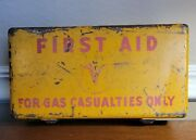 Rare Yellow -first Aid Kit- Wwii Us Army- For Gas Casualties Only