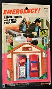 1975 Emergency Tv Show Fleetwood Rack Toy Moc Vintage Rescue Squad Fire House
