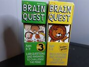 Lot Of 2 Brain Quest Kindergarten And 3rd Grade Questions And Answers