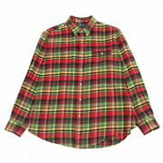Tartan Checknell Shirt Red Others Xl Secondhand Mens