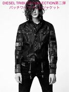 Diesel Patchwork Leather Jacket Size M Menandrsquos Black Motorcycle Tribute 2nd