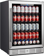 Kalamera 24 Inch 154 Cans Capacity Beverage Cooler- Fit Perfectly Into 24 Space