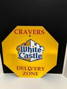 Vintage White Castle Cravers Delivery Zone Metal Sign