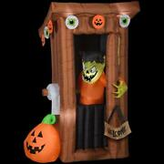 Halloween Decoration Spooky Outhouse Monster With Door Opening 6 Ft. Inflatable