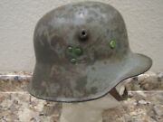 Wwi German M-1918 Helmet Shell With Afghani Liner And Chinstrap