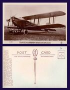 Uk Aviation Real Photo De Haviland 54 Airliner With Rolls Royce Automobile