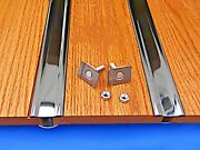Bed Strips Ford 1961 - 1964 Polished Stainless Steel Hidden Fasteners Short Step