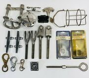 Lot Of Sailing Hardware Used/new Merriman Stainless Gas Tube Cleats Bolts