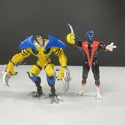 Xmen Lot Of 2 Marvel Action Figures 1991 Night Crawler And 1997 Future Wolverine