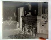 Lot Antique 3pc Glass Negatives. Artifacts,family Room