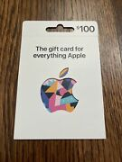 Apple 100.00 App Store And Itunes Gift Card Physical Card / No Email / Usps Only