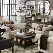 Knightsbridge Scrolled Arm Chesterfield Sectional By Inspire