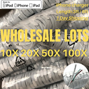 Wholesale Usb Charger Cable 3ft 6ft For Apple Iphone Xr X 8 7 Plus Cord Bulk Lot