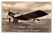 Aviation Germany Luft Hansa Junkers F13 Airliner Real Photo Postcard Circa 1926
