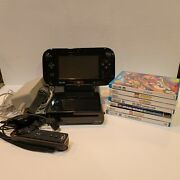 Wii U Wup-010 Usa W/ 7 Games Wiimote Wheel Sensor Bar All Cables