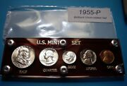 1955 Mint Silver Set Of U.s. Coins Lustrous Brilliant Uncirculated Mostly Choice