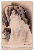 Cabinet Card Beautiful Baby Christening Gown Schemm A.newman Studio,phila.pa