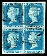 2d Blue Plate 3 - Le Corrosion Smears In Rare Block - See Full Desc. Below