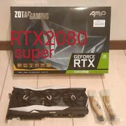 Zotac Gaming Geforce 2080 Super Graphic Board With Box Used From Japan
