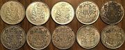 Lot Of 10 Canada Silver 50 Cents Coins - Silver Invest Lot B3