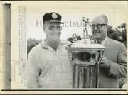 1968 Press Photo Miller Barber And Byron Nelson At Byron Nelson Golf Classic, Tx