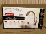 Delta Shiloh Kitchen Sink Faucet Stainless Steel Pull Down Head New