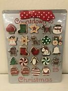 Hallmark Countdown To Christmas Advent Calendar Magnetic Cookie Sheet Magnets
