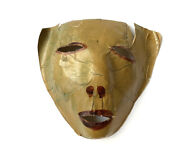 Antique Halloween Mask Goblin Devil Pressed Paper Made In Japan | Haunted