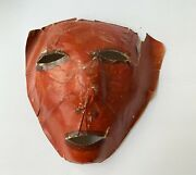 Antique Halloween Mask Goblin Red Devil Pressed Paper Made In Japan | Haunted