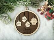 Personalized Christmas Ornaments,christmas Ornaments With Names,family Christmas