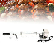 Outdoor Electric Barbecue Skewers Set Barbecue Needle Stainless Turkey Grill Usa