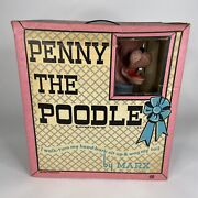 1963 Penny The Poodle_louis Marx And Co. Vintage Toy_original Box_bday Party Prop