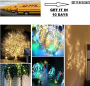 Free Solar Lamp String Lights 100/200 Leds Fairy Holiday Christmas Led Outdoor