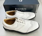 Footjoy Myjoys Icon Shield Tip Golf Shoes All Solid White 11 Extra Wide Custom