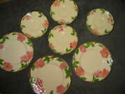 Newfranciscan Waredesert Rosecollection 0f 7 Small Plates/saucers