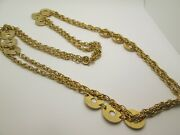 Vintage Gold Plate Flapper Length 64and039 Inches Necklace
