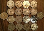 Lot Of 18 Canada 80 Silver 25 Cents Quarter Coins - Silver Invest Lot G3
