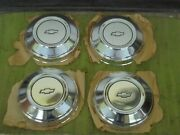 Nos 78-89 Chevy Police Dog Dish Hub Caps Set Of 4 Chevrolet Hubcaps