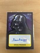 Star Wars Silver Parallel /50 Autograph Card David Prowse Topps Darth Vader Dave