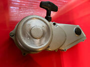 Honda Atc 70 Oem Genuine Pull Starter Recoil Assembly And Left Side Engine Cover