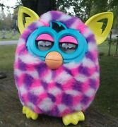 Furby Boom Pink Purple White Spotted Pattern Interactive 2012 Hasbro