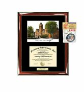 University Of Central Oklahoma Diploma Frame Lithograph Uco Diploma Case Holder