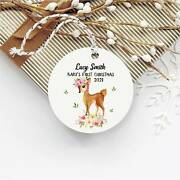 Babyand039s First Christmas Ornament1st Christmas Ornamentpersonalized Ornamentscu