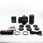 Canon Digital Slr Cameras Eos 60d Double Zoom Kit Ef-s18-55 Mm