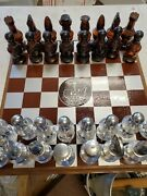 Avon 32 Pcs, Chess Set Bottles W Board Empty After Shave Hair Lotion Conditioner